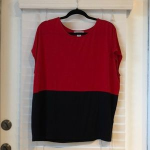Super soft and stretchy black & red blouse